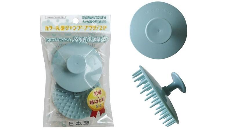 カラー丸型シャンプーブラシ/2P