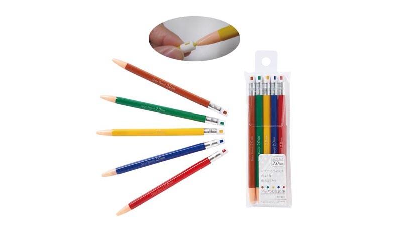 ノック式色鉛筆5P