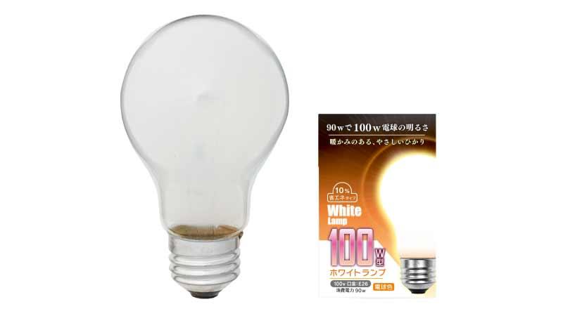 ホワイトランプ100W型/1P 100V 90W E26