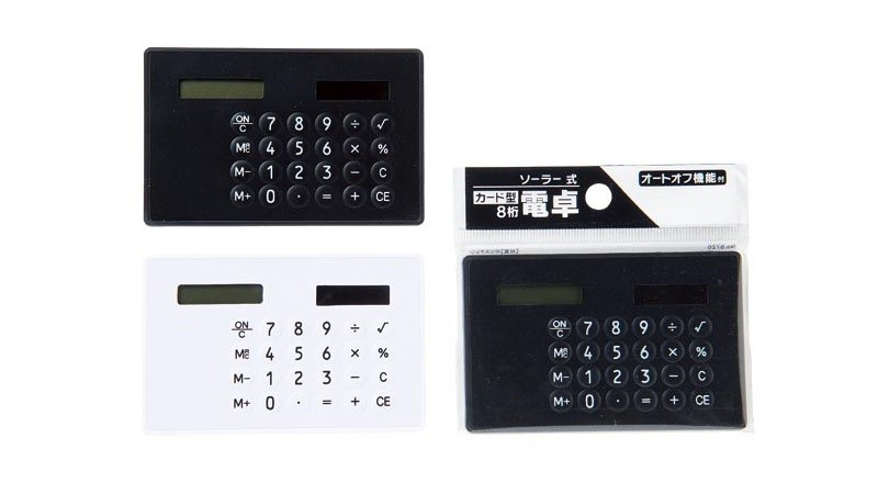 カード電卓/ソーラー式
