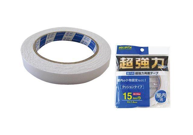 屋内用超強力両面テープ15mm巾×4m
