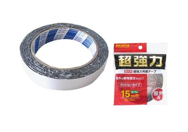 屋外用超強力両面テープ15mm巾×4m
