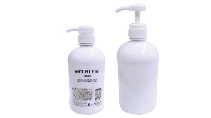 ホワイトPETポンプ600ml