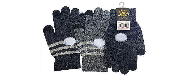 スマホ対応反射付きストレッチ手袋/FREE